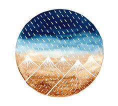 Watercolor painting Original art Rain clouds by bluepalette, $20.00