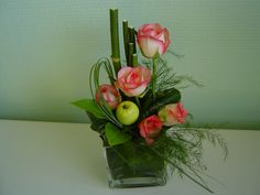 Composition florale on pinterest composition ikebana and flower arrangements - Idee composition florale ...