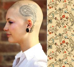 If I ever have to have chemo again, I'm so getting a tattoo on my head!
