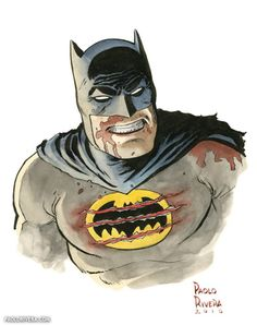The Dark Knight Returns to Fight - Paolo Rivera