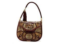 Gucci Britt Flat Snake Patchwork Medium Shoulder Bag