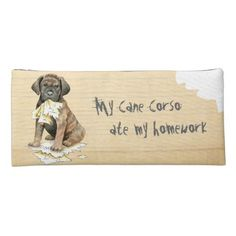 My Cane Corso Ate My Homework Pencil Case   pug happy birthday, pug pumpkin carving, pug mix #pugpresents #pugpillow #Rescue Baby French Bulldog, French Bulldog Names, French Bulldog For Sale, French Bulldog Clothes, Beagle Dog, Boxer Dogs, Border Collie, Pug Pillow, Shetland Sheepdog Puppies