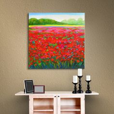 """Alcott Hill """"Dream Before"""" Painting Print on Gallery-Wrapped Canvas Size: 18"""" H x 18"""" W"""