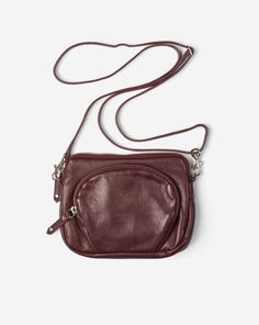 Mini Leather Bag Burgundy