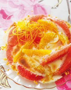 Gratin d'agrumes au sabayon de fleur d'oranger