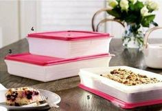Tupperware Pink Slice n Stor Tupperware pink Savoury keeper Tupperware Pink Sweet Keeper