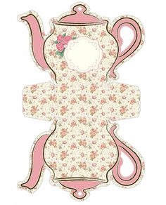 Free Teapot Printable - If you're seeking for lots of Cost-free printables, you have appear to the right location! Printable Box, Free Printables, Shabby Chic, Wonderland Party, Paper Dolls, Tea Party, Tea Cups, Card Making, Paper Crafts
