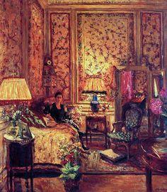 The Voiles de Gênes Boudoir - Edouard Vuillard, 1931