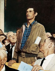 Norman Rockwell Freedom of Speech 1943