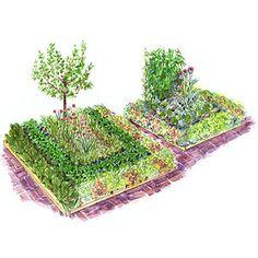 Planting Plans Inspired by the White House Kitchen Garden Plan Potager, Potager Garden, Veg Garden, Garden Beds, Garden Landscaping, Harvest Garden, Garden Tomatoes, Garden Pond, Garden Trellis