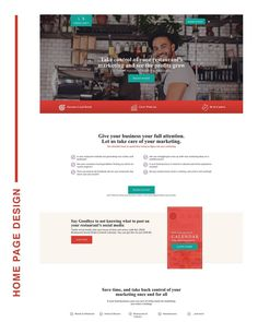 This is a home page I have been designing and building for Restaurant Marketing, Design Agency, Take Care Of Yourself, Web Design, Social Media, Let It Be, Business, Building, Construction