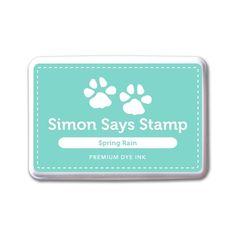 Simon Says Stamp Premium Dye Ink Pad SPRING RAIN ink051 The Color of Fun