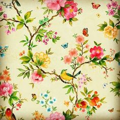 Floral Print Fabric, Floral Prints, House Of Flying Daggers, Cozy Cottage, Chinoiserie, Textile Design, Decoupage, Printing On Fabric, Pattern Design
