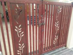leaf gate – Makerbhawan Steel Grill Design, Grill Gate Design, Steel Gate Design, Front Gate Design, House Gate Design, Door Gate Design, Entrance Design, Fence Design, Front Gates