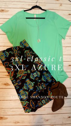 Be styling this spring with this fun outfit!  #lularoe #lularoeperfecttee #lularoeazure #lularoeshannonroute
