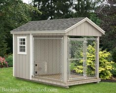 6'x10' Dog Kennel with 4'x6' Box and 6'x6' Run  http://www.backyardunlimited.com/dog-kennels