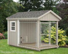 6'x10' Dog Kennel with 4'x6' Box and 6'x6' Run  http://www.backyardunlimited.com/dog-kennels