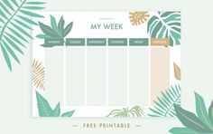 Weekly schedule printable - 15 Printable Weekly Schedules For EVERYONE To Utilize – Weekly schedule printable
