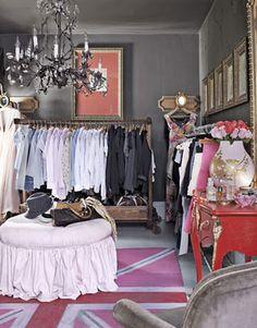OMG! this is my kinda of closet I've imaged.  Boudoir style.