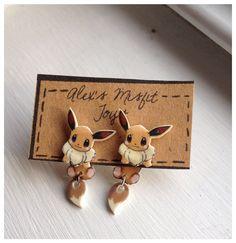 Kawaii Eevee Pokemon Clinging Earrings Fake por AlexsMisfitToys