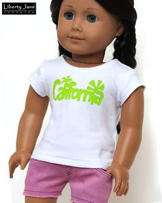 Liberty Jane 18 Inch Doll Clothes - California Dreamin' Outift
