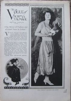 Days Gone By - 1918 fashion with Norma Talmadge