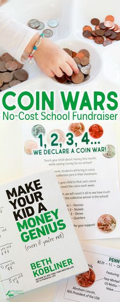 You don't have to be a financial expert to make your kid a MoneyGenius! Grab your School Fundraiser bundle to launch your own Coin War, inspired by the preschool lessons recommended by Make Your Kid a Money Genius (Even If You're Not). This awesome parenting guide from @bethkobliner will give you tools and guidance to begin teaching children as young as preschoolers about money, savings, hard work and how to make good financial decisions. AD