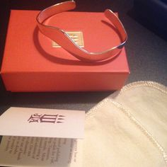 James Avery Wave Bracelet Sterling silver comes with box, pouch and little card. Those are new bracelet isEUC and freshly polished from James Avery store. James Avery Jewelry Bracelets