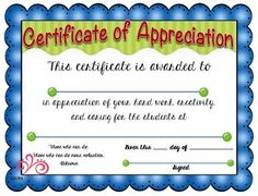 parent appreciation certificates  Chinese Auction Set for October 9th! - Valley Community ...