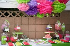 Pink, Purple and Lime Green Party