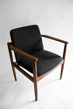 Upholstered chair.