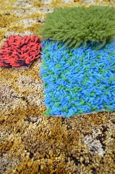 1960s-1970s Shag Carpets - I remember loving shag carpet when I was a kid!  LOL  We had avocado colored shag in one home.  Another home had multicolored carpet like the one shown here.  Again we thought it was cool!