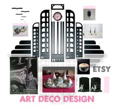 """""""Art Deco Designs"""" by anna-ragland ❤ liked on Polyvore featuring Noritake, WALL, Etsyfinds and vintagegiftideas"""