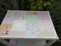 for sale vintage tea trolley re worked x Tea Trolley, Granny Chic, Recycled Furniture, Vintage Tea, Shabby Chic Furniture, Recycling, Quilts, Blanket, Handmade
