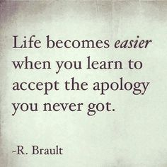 Apology helps you to become a stronger individual.....