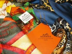 Can anyone resist an Hermes scarf? Photo by Karen Berger http://www.buckettripper.com/what-to-buy-in-france-shopping-for-french-souvenirs-in-paris-and-beyond