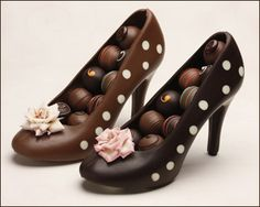 Chocolate shoes filled with chocolate!