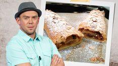 """Láďa Hruška připravil nový recept. Tentokrát ho diváci zavalili recepty na výborný jablečný závin. Tátův štrúdl z pomazánkového másla je další recept ze seriálu """"Levně a chutně"""". Strudel, Pizza, Bread, Cake, Ethnic Recipes, Desserts, Food, Tailgate Desserts, Deserts"""