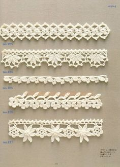 Crochet Edging And Borders - Trendy lace edging crochet patterns free vintage fan crochet edging - a free pattern Crochet Edging Patterns, Crochet Lace Edging, Crochet Motifs, Crochet Borders, Crochet Chart, Lace Patterns, Crochet Trim, Irish Crochet, Crochet Designs