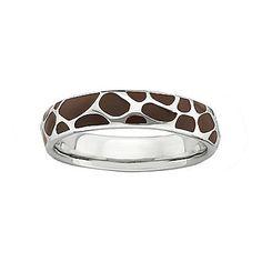 Giraffe print ring. Would like it as a bracelet.