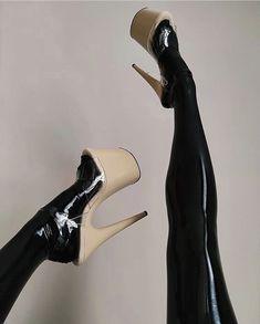 Black Tights, High Heels Stilettos, Second Skin, Gorgeous Women, Latex, Legs, Diy, Shoes, Fashion