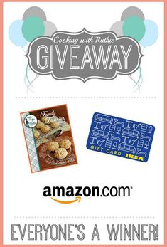 Everyones a Winner Birthday Giveaway! Enter to win $300 Ikea Gift Card AND $100 Amazon Gift Card PLUS win a FREE ebook cookbook!