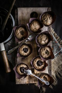 Banana Chocolate Chip Cupcakes with Peanut Butter Buttercream & A Chocolate Ganache Center | Adventures in Cooking