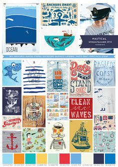 Boys Nautical themed trend board for Spring/Summer 2014.