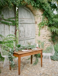 Organic tablescape inspiration from France