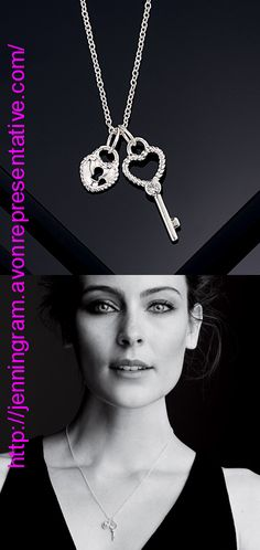 Sterling Silver Key and Heart Pendants with CZ Accents on Silvertone Chain  920-798 Reg. $49.99 The key to her heart!