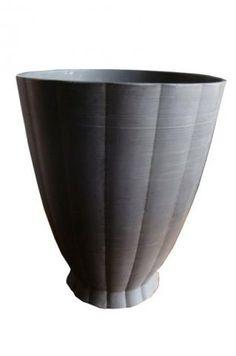 Keith Murray Wedgwood Black Basalt Vase | Modernism
