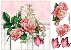 Gorgeous quick card with beautiful roses.