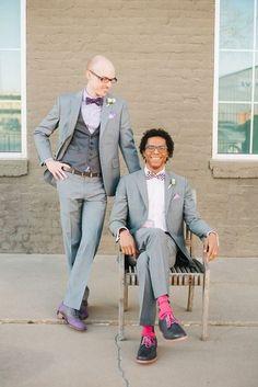 Groom Couple Outfits For Same Sex Weddings | HappyWedd.com
