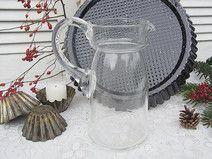 vintage Karaffe Dekanter Hyazinthenglas Glaskanne